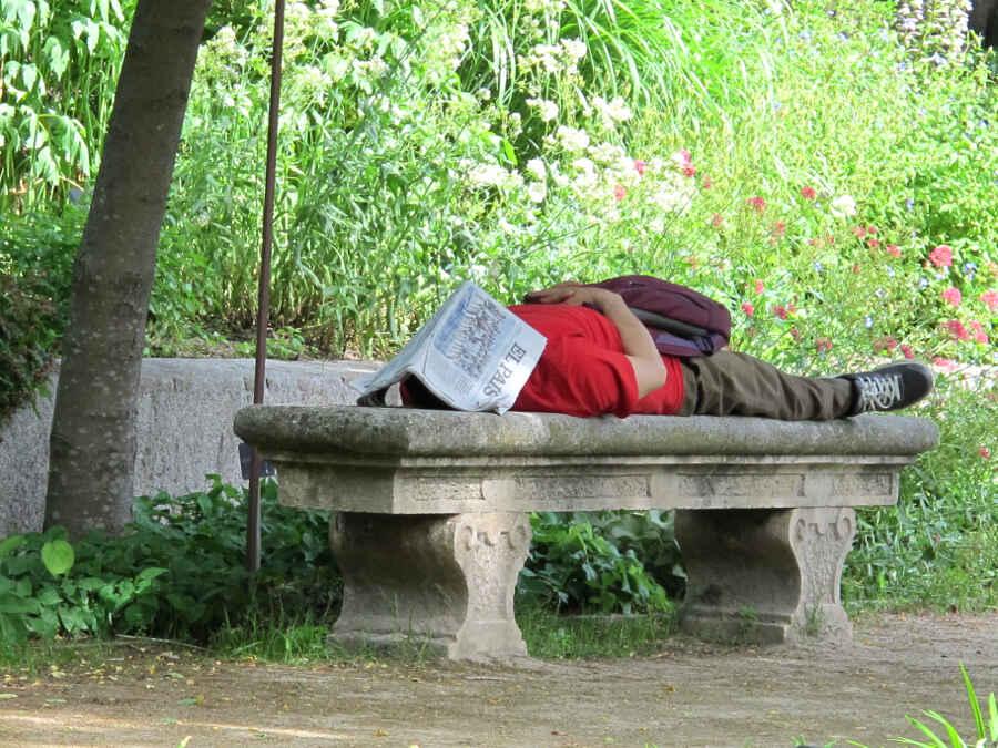 Madrid Menschen im Park 5